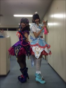 prad5 Aroma-Makino Yui and Mikan-Watanabe Yui at a event conert november 2015