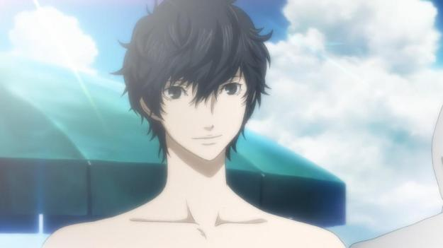 persona 5 swimsuit mc smile